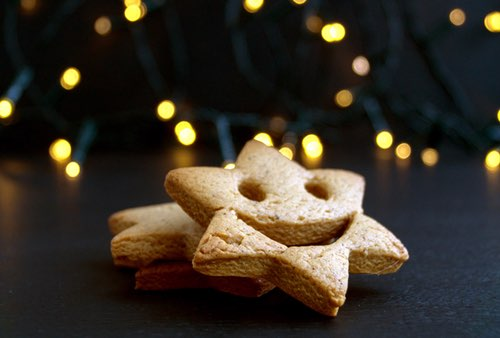 A Christmas Sugar Cookie with a Huge Smile