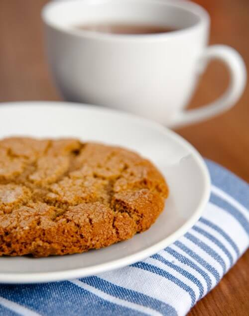 Homemade Molasses Cookie and Coffee