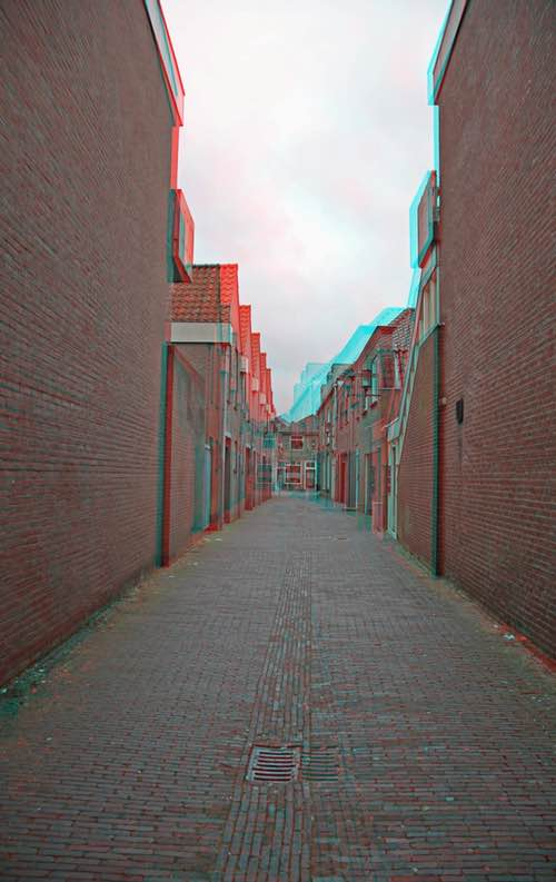 Old Holland Town in Anaglyph 3D