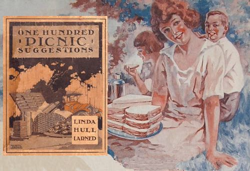 One Hundred Picnic Suggestions Book Cover and Vintage Illustration