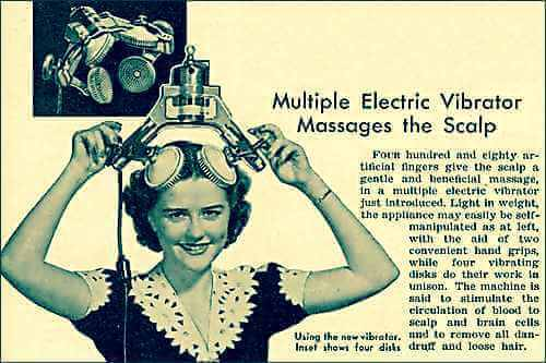 Vintage Ad Demonstrating an Early Electric Vibrator