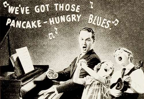 Pancake Hungry Blues Illustration