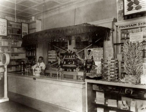 Vintage Pharmacy Soda Fountain With Soda Jerk