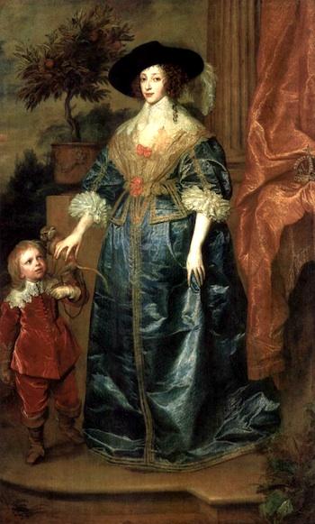 Van Dyck's Painting of Queen Henrietta Maria and Sir Jeffrey Hudson