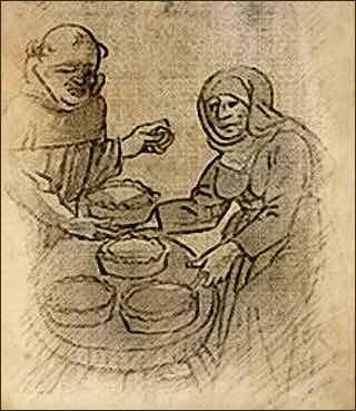 Historical Illustration of Renaissance Pie Making