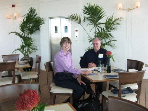 Don and Vicki Bell Dining Aboard the Royal Yacht Britannia