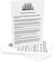 Sailor's English Plum Pudding Recipe For Printing Out