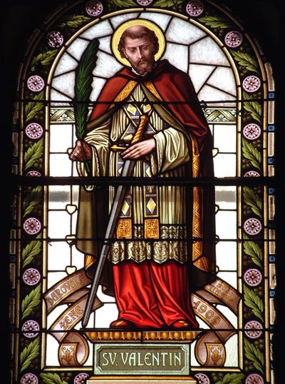 Stained Glass Window of Saint Valentine