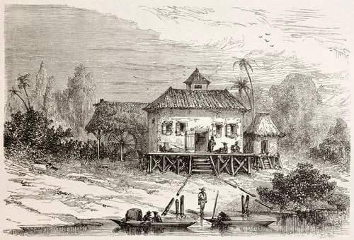 Old Sugar Factory Illustration