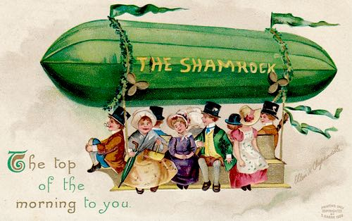 The Top of the Morning to You - The Shamrock Greeting Card c.1909