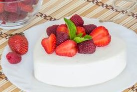 Heart Shaped Dessert with Strawberries