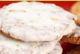 Homemade Cookies with Glossy White Icing
