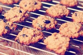 Raisin Drop Cookies Warm from the Oven