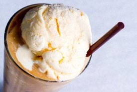 Ice Cream Float with Straw