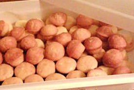 Container Full of Mini Lemon Muffins