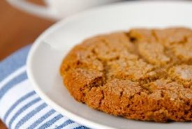 Homemade Molasses Cookie on a Plate