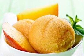 Bowl of Peach Ice Cream