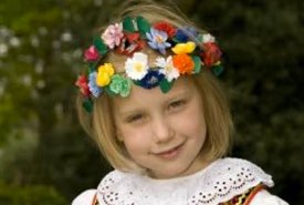 Young Polish Girl in National Dress