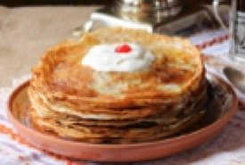 Russian Honey Mousse Dessert