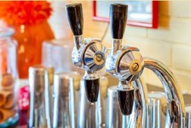 Soda Fountain Counter and Taps
