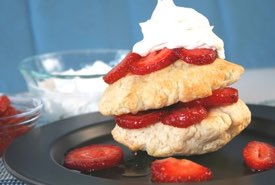 Strawberry Shortcake with an Old Time Biscuit Base