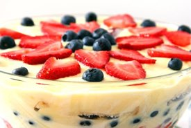 English Trifle Topped with Fresh Fruit