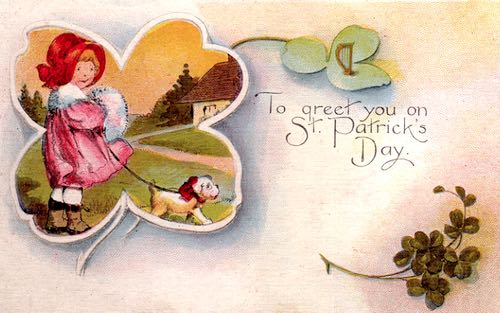 To Greet You on St Patrick's Day, Vintage Card, c.1915
