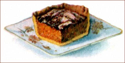 Vintage Carrot Cake In Pastry For Thanksgiving Dinner