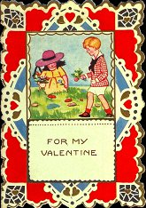 Cover Of Vintage Child Valentine Card, 1920