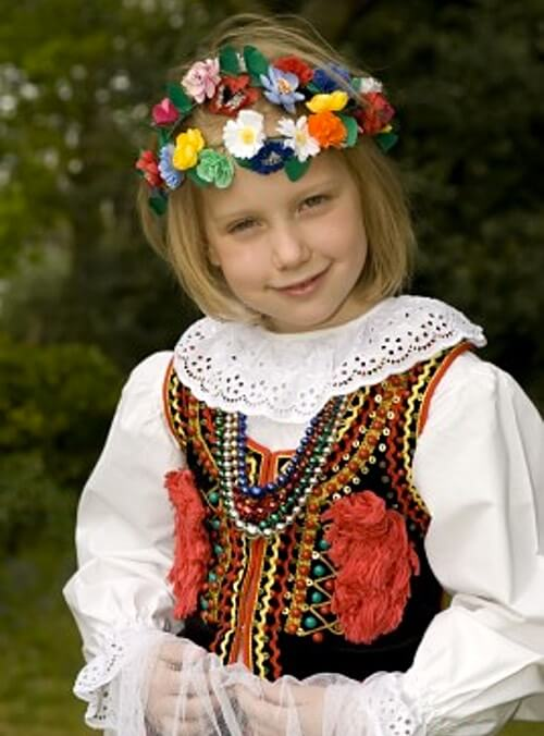 Young Polish Girl in Her National Costume
